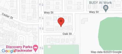 Location map for 7 Oak Street Blackwater