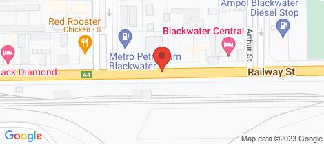Location map for 26, 28, 30, 34 Railway Street Blackwater