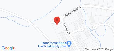 Location map for 96 Barramundi Drive Burrum Heads