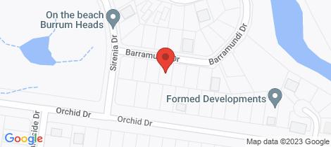 Location map for 7 Barramundi Dr Burrum Heads