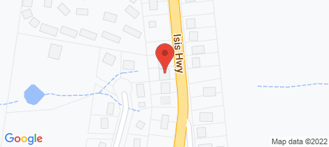 Location map for 54 Broadhurst St Childers