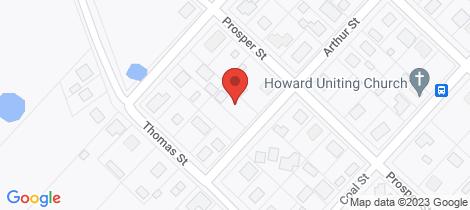 Location map for 29 Arthur St Howard