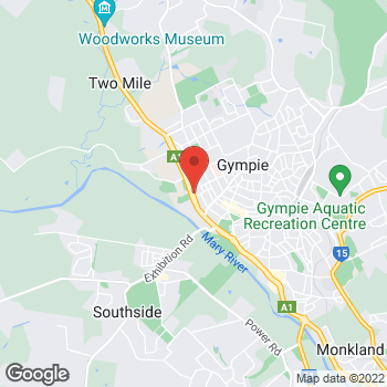Map of O'Brien Plumbing Gympie at 16 Cross Street, Gympie, QLD 4570