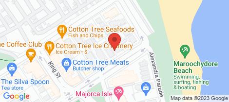 Location map for 7/6 Memorial Ave Maroochydore