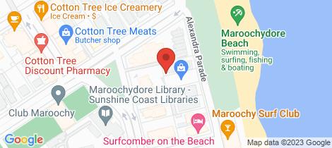 Location map for 7/22 Alexandra Parade Cotton Tree