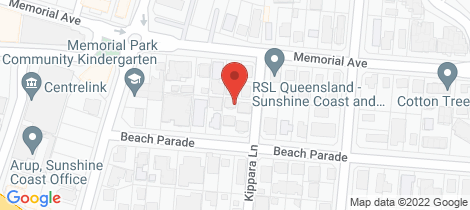 Location map for 8/9 Kippara Lane Maroochydore