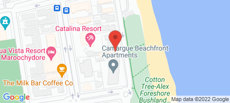 Location map for 2/50 Alexandra Pde Maroochydore