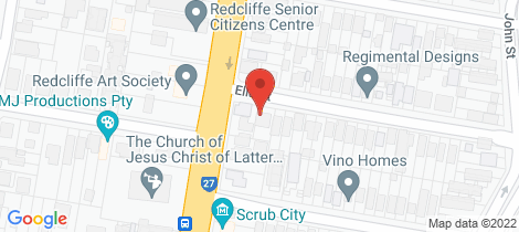 Location map for 45 Ella Street Redcliffe