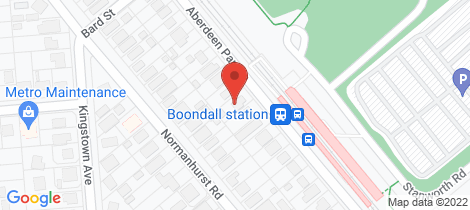 Location map for 187 Aberdeen Parade Boondall