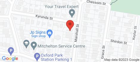 Location map for 26 Marshall Street Mitchelton