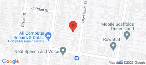 Location map for 152 Glen Holm Street Mitchelton