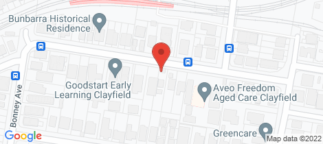 Location map for 35 Norman Parade Clayfield