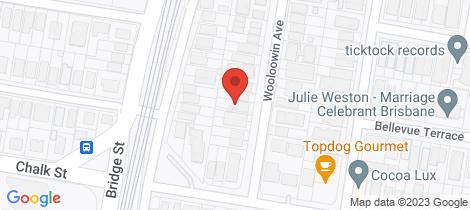 Location map for 16 Wooloowin Avenue Wooloowin