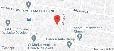 Location map for 8 Shirley Street Clayfield