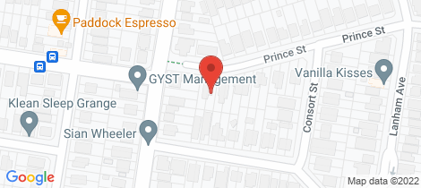 Location map for 54 Prince Street Grange