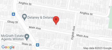 Location map for 24 Main Avenue Wilston