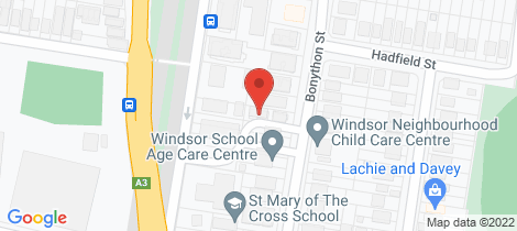 Location map for 3/22 Bonython Street Windsor