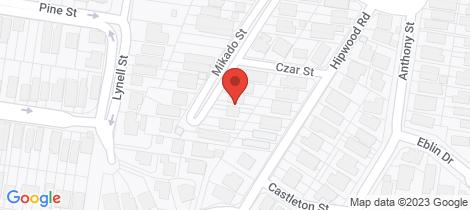 Location map for 9 Mikado Street Hamilton