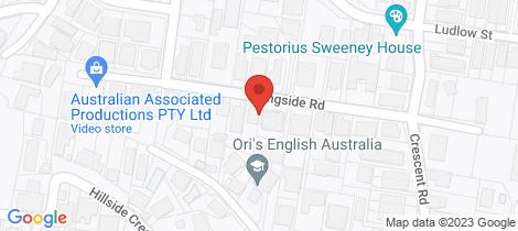 Location map for 33 Langside Road Hamilton