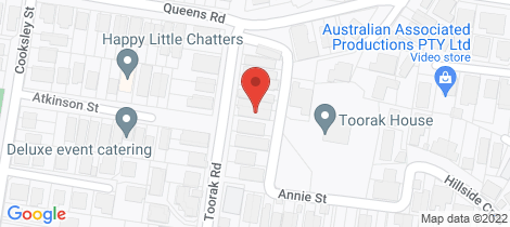 Location map for 51 Toorak Road Hamilton