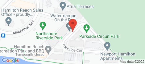 Location map for 8/102 Parkside Circuit Hamilton