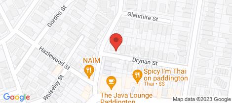 Location map for 23 Collingwood Street Paddington