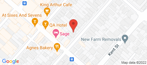 Location map for 236 Harcourt Street New Farm
