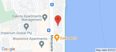 Location map for 77 Macquarie Street, Teneriffe