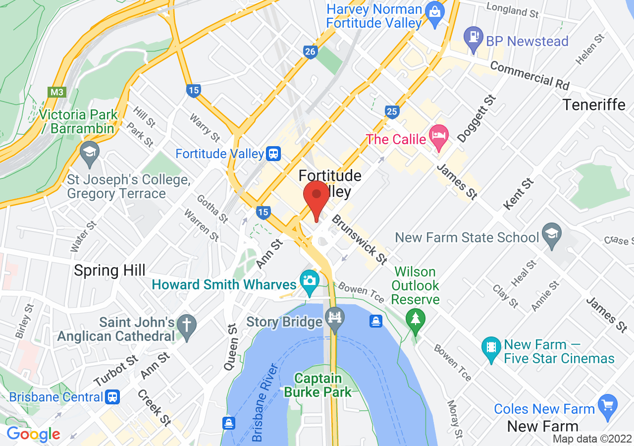 The location of The Warehouse Brisbane