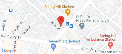 Location map for 3 Isaac Street Spring Hill