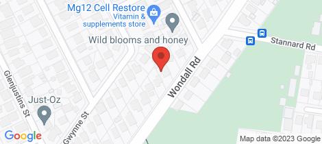Location map for 167 Wondall Road Wynnum West