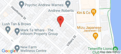 Location map for 55 Kingsholme Street Teneriffe