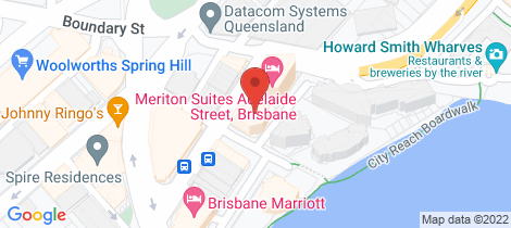 Location map for 3401/483 Adelaide Street Brisbane City