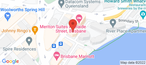 Location map for 22/483 Adelaide Street Brisbane City
