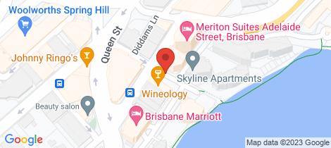 Location map for 2301/483 Macrossan Street Brisbane City