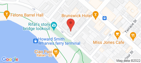 Location map for 1/202 Bowen Terrace New Farm