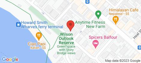 Location map for 20/222 Bowen Terrace New Farm