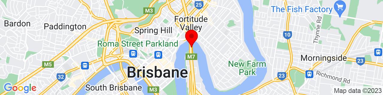 Google Map of -27.464127777777776, 153.03574166666667