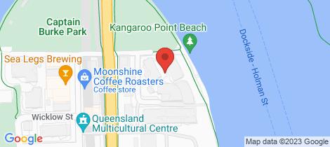 Location map for 110/1 Holman Street Kangaroo Point