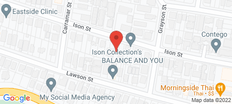 Location map for 53 Ison Street Morningside