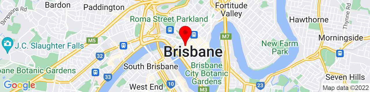 Google Map of -27.46898611111111, 153.02363333333335