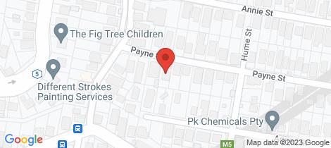 Location map for 100 Payne Street Auchenflower