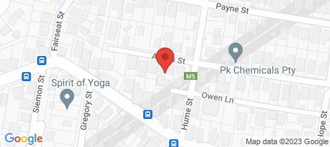 Location map for 39 Owen Lane Auchenflower
