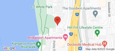 Location map for 2 Scott Street Kangaroo Point