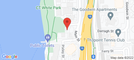 Location map for 8/2 Scott Street Kangaroo Point