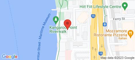 Location map for 605/21 Pixley Street Kangaroo Point