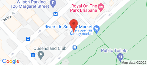 Location map for 703/140 Alice Street Brisbane City