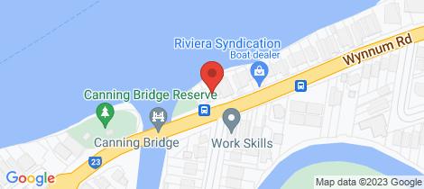 Location map for 10 Wynnum Rd Norman Park