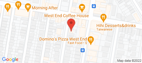 Location map for 5&7/48-50 Thomas Street West End