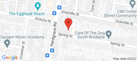 Location map for 1/69 Spring Street West End